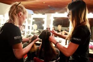 Backstage hair